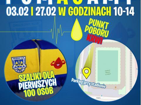 W środę zbiórka krwi przed stadionem w Gdyni